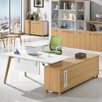 卡奈登(CONEDUN)现代大班台简约时尚老板办公桌大班桌经理主管桌办公家具 XYAB-610 1.8米