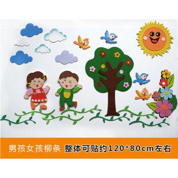 幼儿园装饰墙面区角布置组合墙贴卡通贴饰墙饰教室环境布置主题 男孩