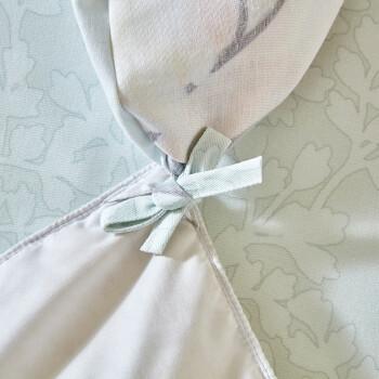 罗莱家纺 LUOLAI 全棉加厚磨毛四件套 纯棉保暖床单被套 花香满庭院 1.8米床 220*250cm