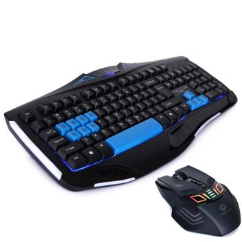 力胜 KB-1118M 游戏键盘套装 半机械键盘 游戏竞技 机械游戏键盘套装 黑色