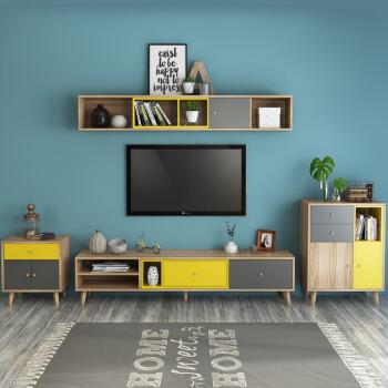 北欧格调北欧电视柜茶几组合家具客厅套装简约小户型卧室电视机柜吊柜