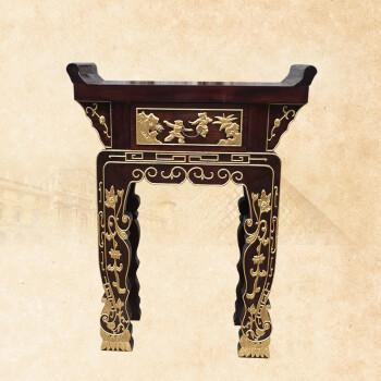 香樟木供桌实木玄关佛桌神台现代中式佛龛全实木翘头案 100*45*110 10图片