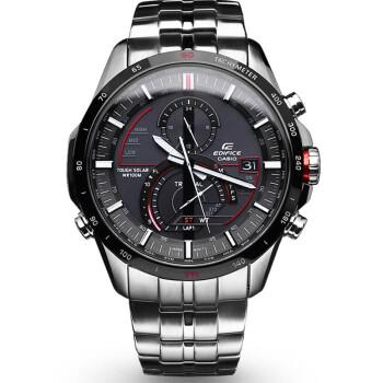 卡西欧(CASIO)手表 EQS-500系列太阳能多功能男表 黑盘EQS-A500DB-1A