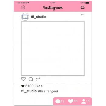可定制instagram拍照道具ins手持拍照边框广告活动镂空婚礼相框粉色图片