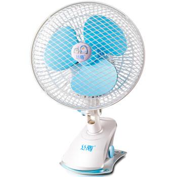 丝雨SY01-180 电风扇 学生宿舍床头迷你小风扇 电扇 静音夹扇 台扇壁扇 200mm  蓝色 带摇头