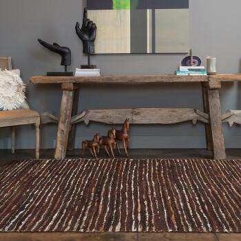优立地毯印度进口牛皮奢华地毯客厅高档手工编织地毯卧室北欧风地毯