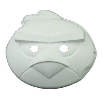 盛泉环保纸浆白色面具手绘diy涂鸦面具纸脸谱白色空白面具愤怒小鸟