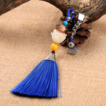 创意个性小车汽车轿车手编钥匙扣绳挂件装饰品内饰吊坠民族风男士