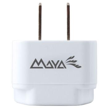 玛雅(MAYA)国标二脚万能转换插头 转英标欧标电器香港版苹果iPad 无线白色WP6-W