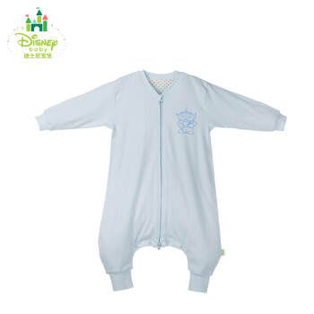 Disney/迪士尼贝贝怡婴儿睡袋春秋冬款宝宝防踢被分腿长袖143P656 淡蓝 90