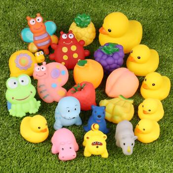 捏捏叫玩具宝宝洗澡玩具儿童戏水玩具小鸭子 5昆虫 6水果 5款鸭 6动物