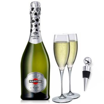 意大利洋酒 马天尼阿蒂斯甜起泡酒7.5度 送香槟杯2个酒塞1个 甜型葡萄酒 750ml