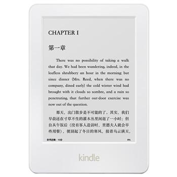 Kindle 6英寸护眼非反光电子墨水触控显示屏 内置wifi 4G 电子书阅读器 白色