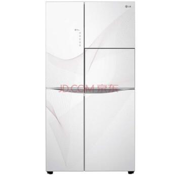 LG GR-C2378NUY 614升大容量对开门冰箱 线性变频风冷 UV光催化抗菌 全抽屉式冷冻柜 (白色)