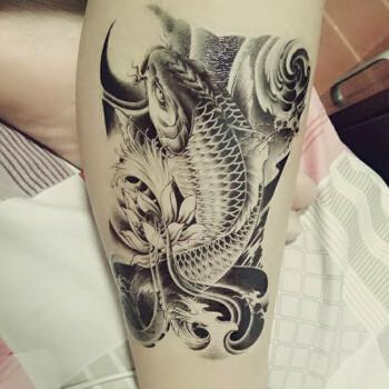 一套10张自选大花臂关公男 女持久花臂仿真半臂手臂刺青纹身图片