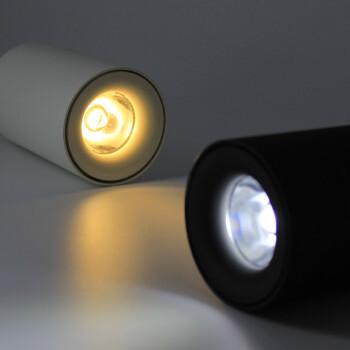 爱斯兰 LED明装筒灯服装店咖啡厅客厅射灯北欧简约过道阳台天花灯具MTD142 黑色9W 自然光