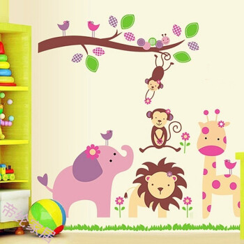 幼儿园班级教室布置墙贴许愿树心愿树成长树装饰用品卡通贴纸画 卡通