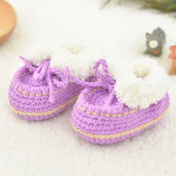 宝宝婴儿鞋子材料包diy编织钩针毛线婴儿鞋 67#豆豆鞋