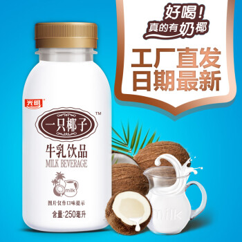 光明 一只椰子 250ml*10瓶牛乳饮品 真正的椰奶饮料最新生产日期 原味