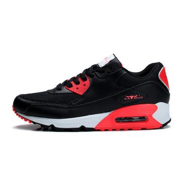 公牛世家 跑步鞋运动鞋男时尚男鞋运动休闲板鞋透气低帮鞋子男篮球鞋气垫鞋内增高888126 黑红色 42