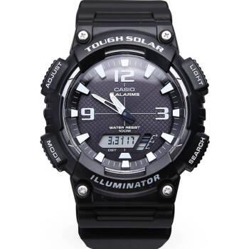 卡西欧(CASIO)手表电子多功能防水运动男表 太阳能AQ-S810W-1A