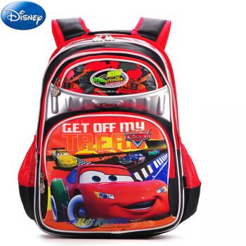 迪士尼(Disney)书包小学生 双肩儿童书包背包 双肩男 0009热情红