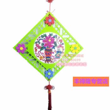 丰得隆-幼儿园中国风走廊创意吊饰教室墙面挂饰背景装饰品商场无纺布