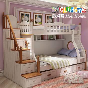 2儿童上下床双层床母子床实木高低母
