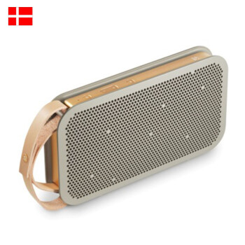 【全球购】丹麦直邮 B&O BeoPlay A2 真皮腕带奢华便携蓝牙音箱 灰色