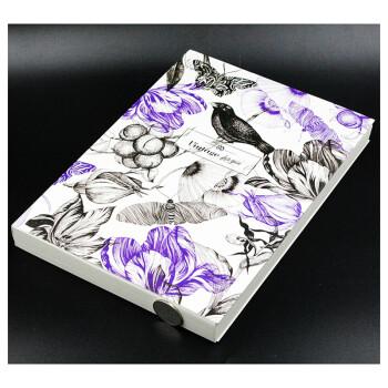 包邮学院派凡高大号超厚空白笔记本16K素描/速写/空白涂鸦本绘画 紫色小鸟款