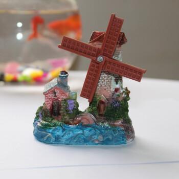 荷兰风车鱼缸造景