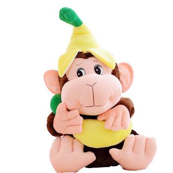 毛绒布艺 毛绒/布艺 萌蒂诺 香蕉大猩猩 猴子大嘴猴公仔毛绒玩具 大号