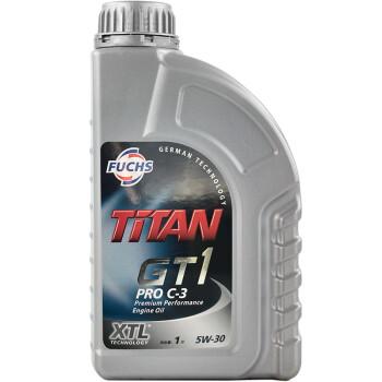 福斯(fuchs)汽车机油发动机润滑油大众初装油正品 泰坦gt1全合成 5w