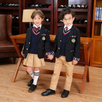 小学生校服套装幼儿园英式制服学院风英伦班服男女童中大童秋冬装hc 1
