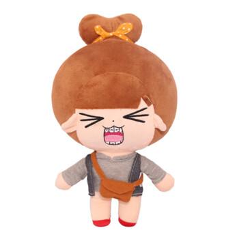 qq表情系列可爱娃娃抱枕布娃娃毛绒玩具玩偶生日节日女生礼物牙套妹图片