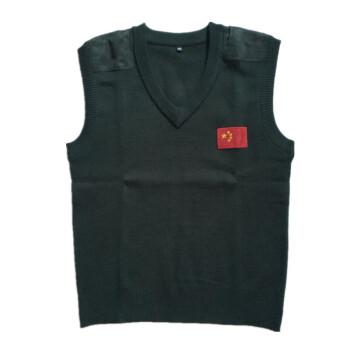 07式 圆领v领拉链军官毛衣衫背心保暖橄榄绿绒衣男士秋冬 士兵 v领