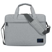 YESSBON 电脑包15.6英寸单肩手提笔记本电脑包内胆包13.3男女士商务包14 灰色 15.4英寸