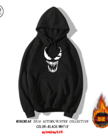 加绒款黑色(毒液logo) s