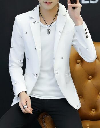 秋冬上新小西服男士韩版修身青少年学生便服单西潮流帅气发型师西装外图片