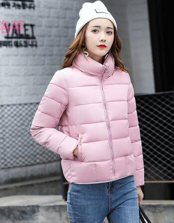 女士羽绒服棉衣服面包服冬装外套女韩国版胖mm加大码短款毛领时尚加厚