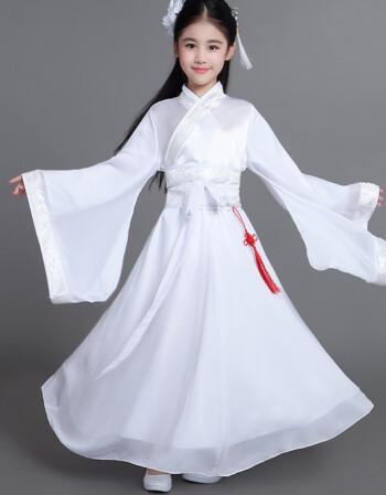 女童古代衣服儿童古装女汉服童装古装仙女装公主裙古筝服装中大童ljy