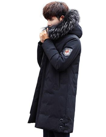 潮至森马 装羽绒服男加厚中长款冬季新款休闲冬装大衣图片