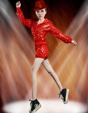 丹杰仕小苹果春夏演出服亮片爵士舞女套装街舞服蹈服装女歌手ds演出