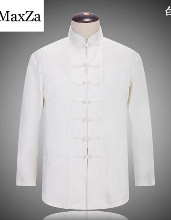 男色中国_民族服装长袖衬衫男色亚麻唐装中老年男装大码棉麻中国风爸爸装 白色