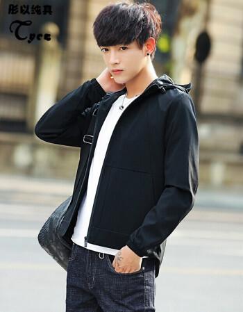 之家森马 夹克男装秋季新品韩版连帽上衣青年休闲薄款修身男士外套潮图片
