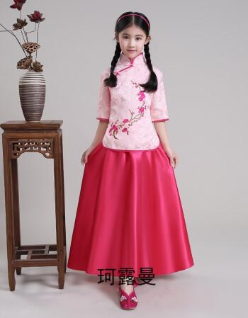 手绘古装裙子红色