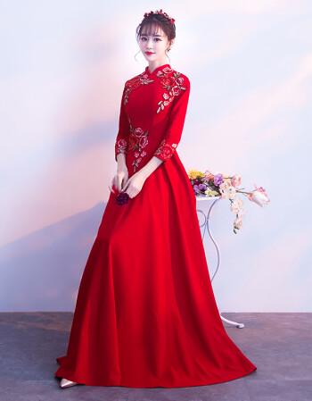 礼服长款红色晚礼