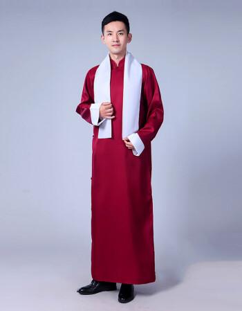 相声大褂_洛芊(luoqian)相声服装大褂表演服中式伴郎兄弟团礼服