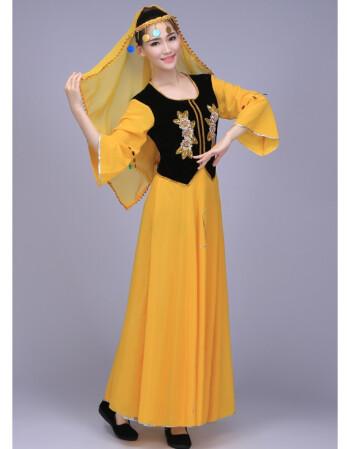 新疆民族舞蹈2018新款维吾尔族少数民族演出服维族服装新疆舞蹈服
