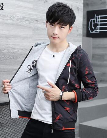 青少年冬装男生外套韩版潮流帅气百搭初中高中学生春秋季14岁16岁